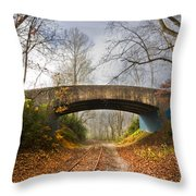 Under And Over  Throw Pillow by Debra and Dave Vanderlaan