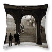 Under Bethesda Terrace Throw Pillow
