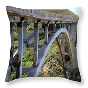Under Bixby Bridge By Diana Sainz Throw Pillow