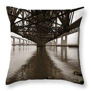 Under Bridges Throw Pillow