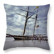Under Cloudy Skies Throw Pillow