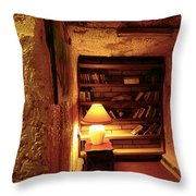 Under Ground Book Shelf Throw Pillow