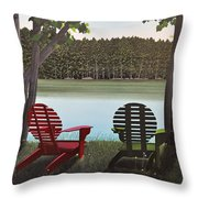 Under Muskoka Trees Throw Pillow