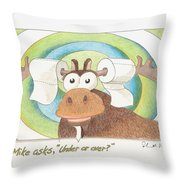 Under Or Over Throw Pillow