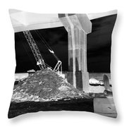 Under Pass Bw Iv Throw Pillow