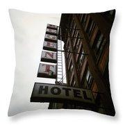 Under Regent Hotel  Throw Pillow