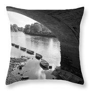 Under Richmond Bridge Throw Pillow