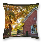 Under Sheltering Leaves Throw Pillow