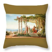 Under The Arbour Throw Pillow