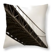 Under The Bay Bridge Throw Pillow