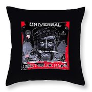 Under The Black Flag Poster 1916 Color Added 2013 Throw Pillow