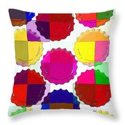 Under The Blanket Of Colors Throw Pillow