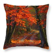 Under The Blazing Canopy Throw Pillow