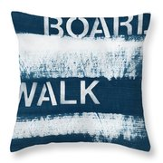 Under The Boardwalk Throw Pillow by Linda Woods