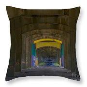 Under The Bridge   #1247 Throw Pillow