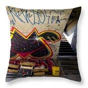 Under The Bridge In Sao Paulo Throw Pillow