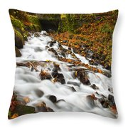 Under The Bridge Throw Pillow by Mike  Dawson