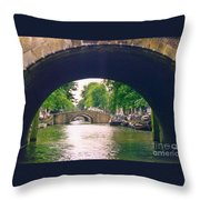 Under The Canals Throw Pillow