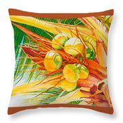 Under The Coconut Palm Throw Pillow