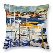 Under The Copper Dome Throw Pillow