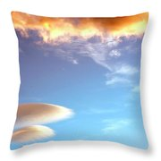 Under The Desert Sky Palm Springs Throw Pillow