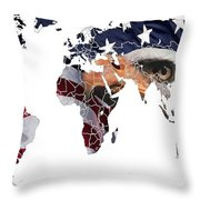 Under The Eagles Eyes Throw Pillow