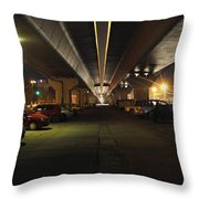Under The Flyover  Throw Pillow