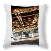 Under The Golden Bridge Throw Pillow