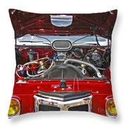 Under The Hood Throw Pillow