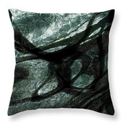 Under The Ice Throw Pillow