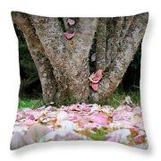 Under The Magnolia Tree Throw Pillow