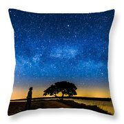 Under The Milky Way II Throw Pillow