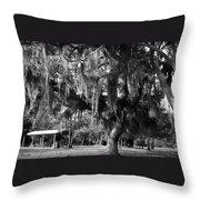 Under The Oaks Throw Pillow