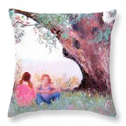 Under The Old Gum Throw Pillow