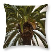 Under The Palm II Throw Pillow
