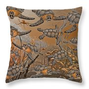 Under The Red Sea II Throw Pillow