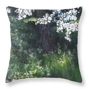 Under The Shade Of The Almond Blossom Throw Pillow
