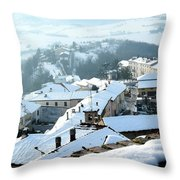 Under The Snow Throw Pillow