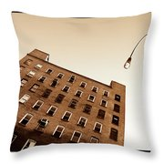 Under The Street Lamp Throw Pillow
