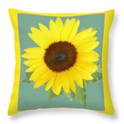 Under The Sunflower's Spell Throw Pillow
