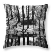 Under The Tall Trees Throw Pillow by Luke Moore