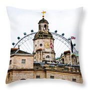 Under The Watchful Eye At Horse Guards Throw Pillow