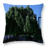 Under The Weeping Tree Throw Pillow