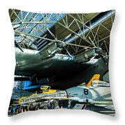 Under The Wing Of The Goose Throw Pillow
