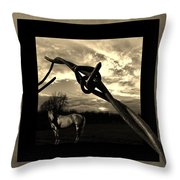 Under The Wire Throw Pillow