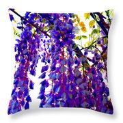 Under The Wisteria Throw Pillow