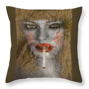 Under World Girl Throw Pillow