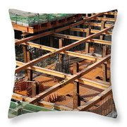 Underground Construction Project Throw Pillow