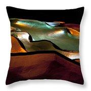 Underground Light Show Throw Pillow