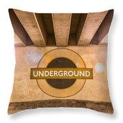 Underground Underground Throw Pillow